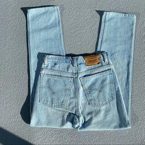 Vintage orange tab levis jeans